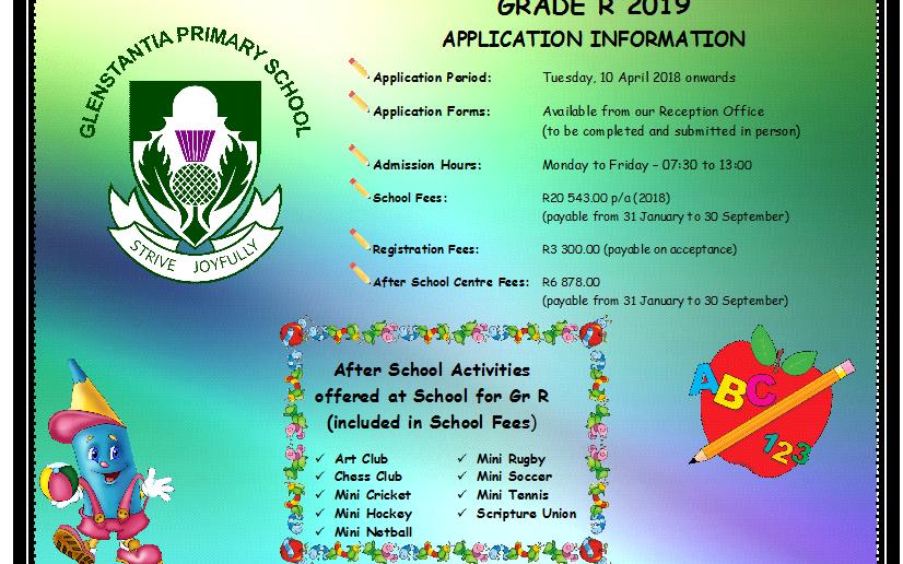 Grade R Applications 2019