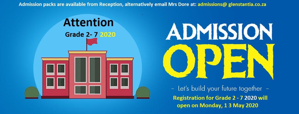 grade 2 admissions